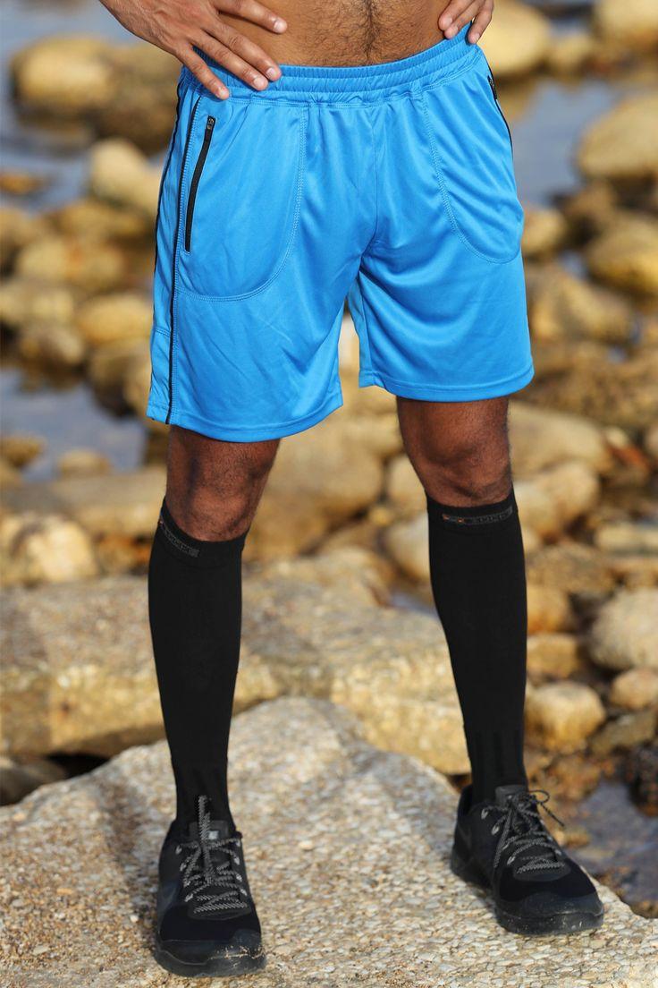 BodyCross Maceo Cyan Face - Short homme running
