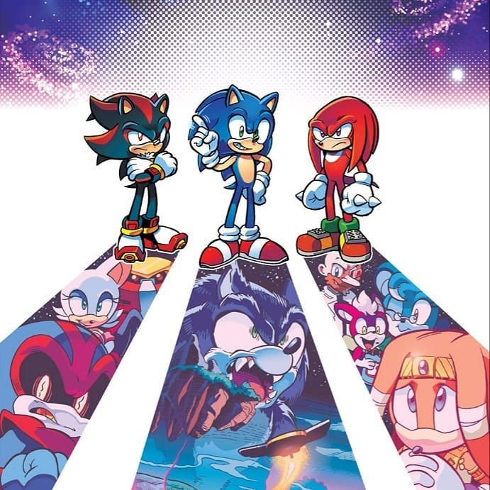 Sonic Fancy Art On Instagram This Is One Of The Variant Coverarts For Archie S Sonic Universe Issue 75 Artist Evan In 2020 Sonic Fan Art Sonic Sonic And Shadow