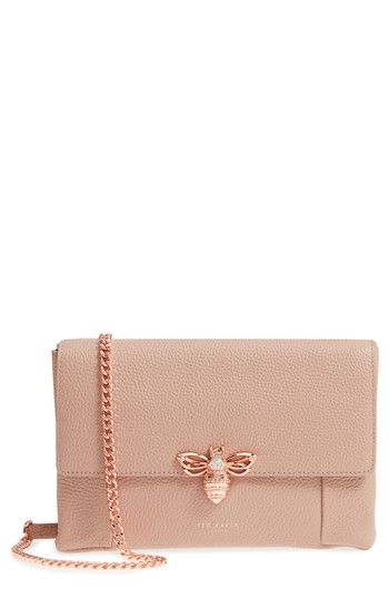 fb50c75f48f183 TED BAKER ZZLEE BEE EMBELLISHED CROSSBODY BAG - PINK.  tedbaker  bags  shoulder  bags  leather  crossbody  crystal