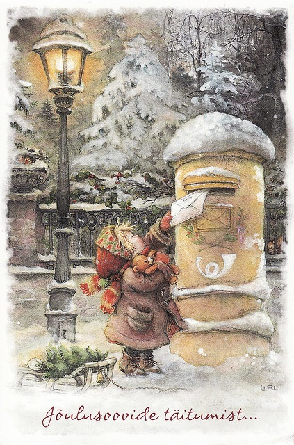 Mailing a letter - Artist: Lisi Martin