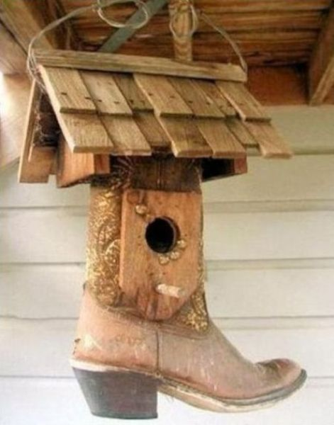 Great Idea for those old cowboy boots!