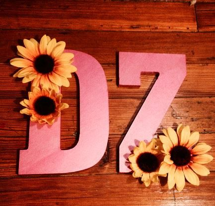 Painted Sorority Letters  Delta Zeta . Big little gifts CanvasCharmRVA on Etsy