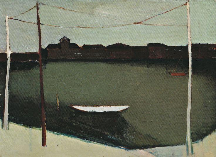 Leonardo Cremonini - il bacino della Giudecca - 1950