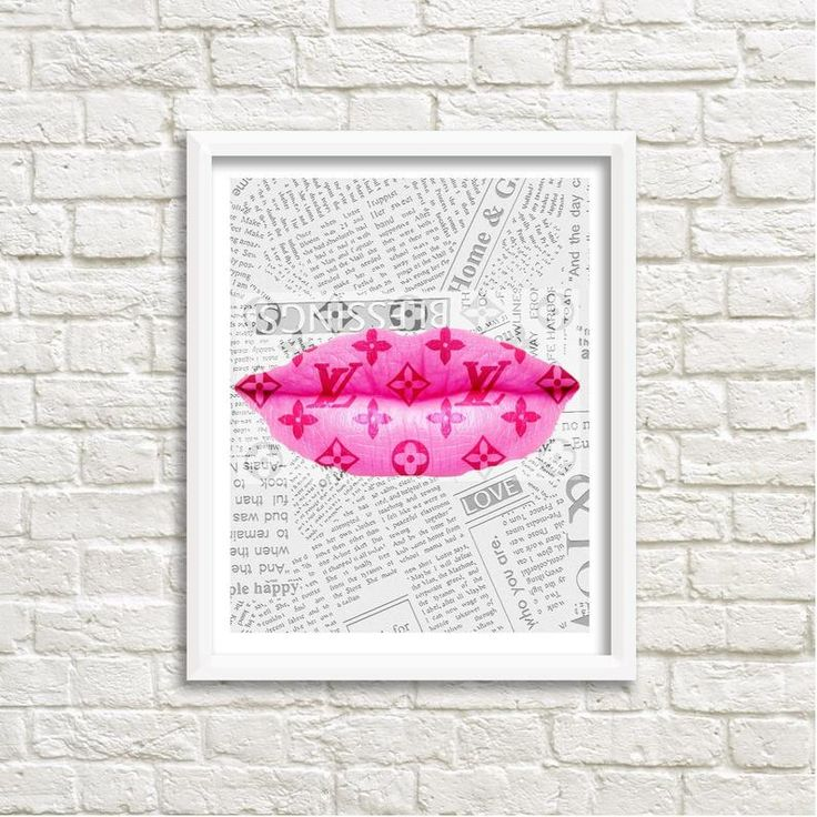 FASHION DIGITAL PRINT Louis Vuitton Lips, Wall Art
