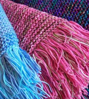 Such gorgeous colors! A reader worked up three of our knitted afghans, one for each of her granddaughters.: Gardens Ideas, Crochet Ideas, Country Woman Magazines, Countrywoman Merrychristma, Afghans Patterns, Afghans Knits, Knits Afghans, Ideas Galleries, Crafts Sewing Quilts