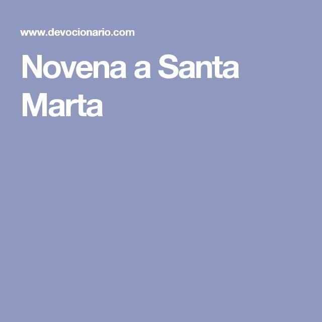 Novena a Santa Marta