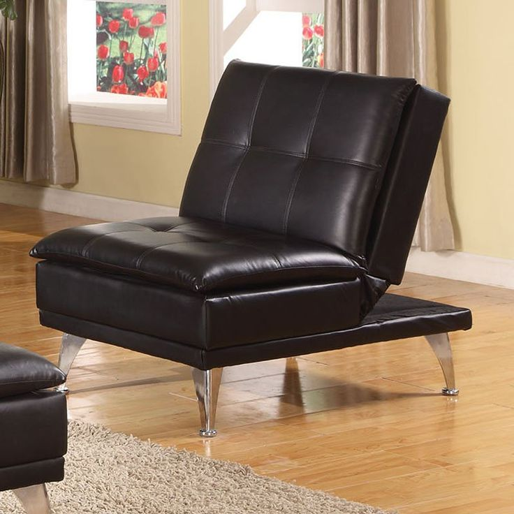 Acme Furniture Frasier Black Adjustable Futon Chair - 57081