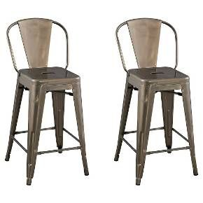 "Carlisle Backed 24"" Counter Stool Steel (Set of 2) - Ace Bayou.  Perfect!"