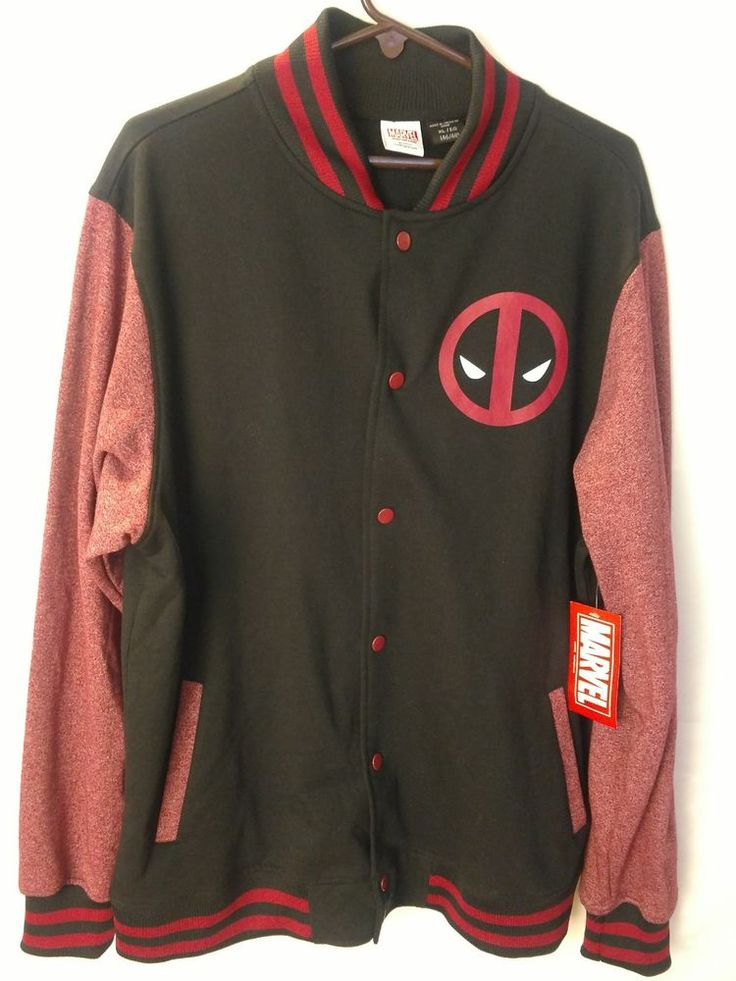 Deadpool Sweater Jacket Marvel Mens XL NWT #Marvel #Hoodie