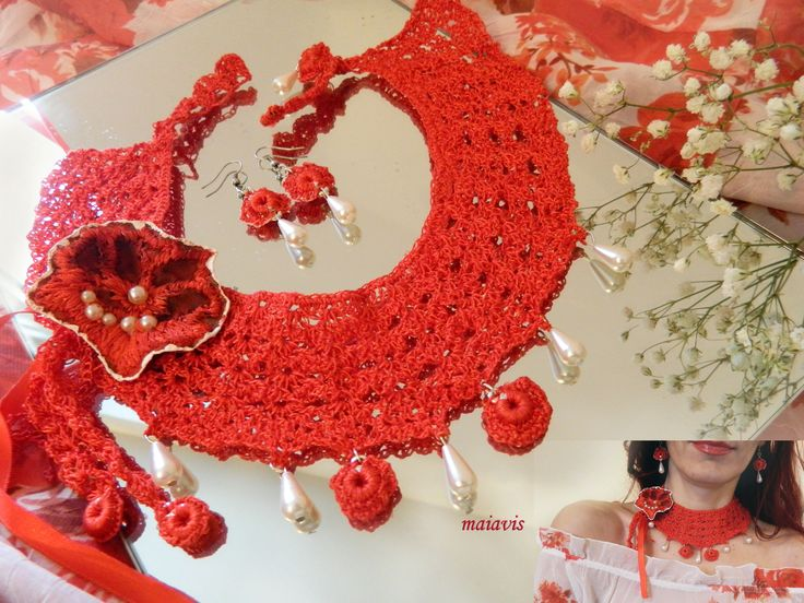 crochet necklace jewelry