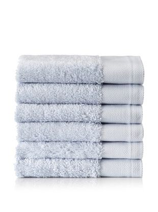 Schlossberg Set of 6 Interio Washcloths, Sky