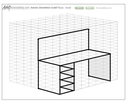 This Unique Set Of Graph Paper Templates Helps You Sketch Wood