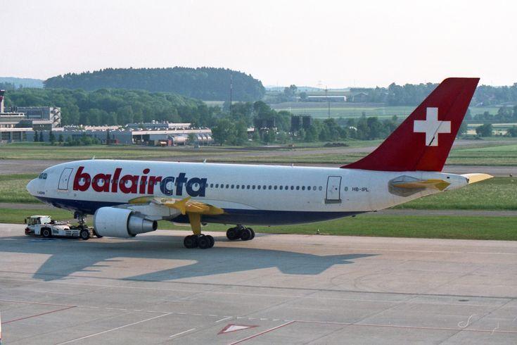 https://flic.kr/p/FEw56W | BalairCTA Airbus A310-325/ET HB-IPL | Zürich (- Kloten) (ZRH / LSZH) 5.1998