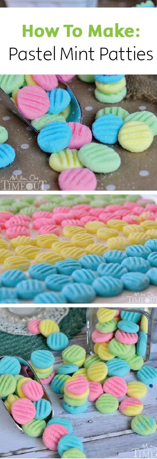 Break out the food coloring and create this rainbow of delicious Pastel Mint Patties for your spring holiday party dessert.