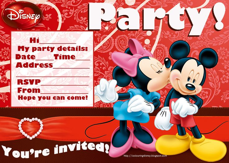 176 best images about Mickey Mouse Birthday Party – Mickey and Minnie Party Invitations