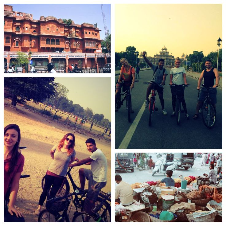 Explore Pink City on this cycling tour in Jaipur which takes you into the heart of Maharaja's heritage. As you dive into history and admire the most beautiful sites around Royal Jaipur. Paddle until you reach the Water Palace and visit the Maharaja's cenotaphs to discover the daily lifestyle within the city palace.  The tour covers various attraction spots like Ramganj Chaupar (Karnot Mahal Hotel), Badi Chaupar, Hawa Mahal, Jal Mahal, Gaitor King's cenotaphs, Talkatora Tank, Vegetable…