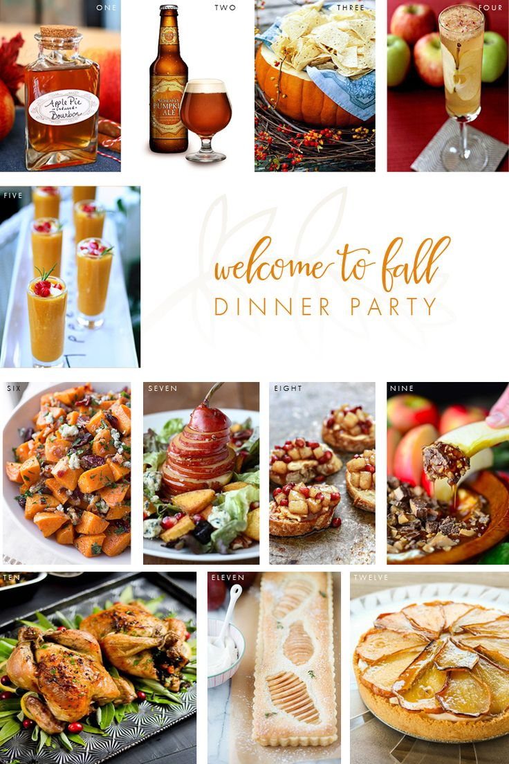 Welcome to Fall Dinner Party Menu! Throw the ultimate fall gathering this  season with these