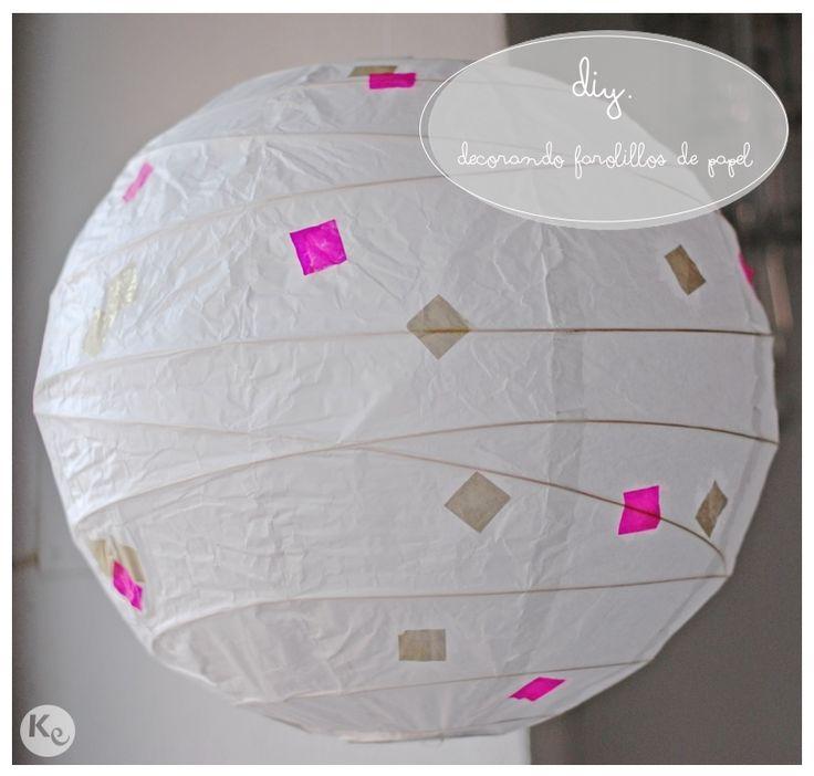 DIY Decorando farolillos de papel