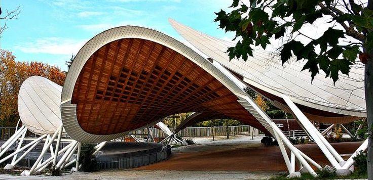 b.perote: Auditorio al aire libre_Parque Paraíso Madrid