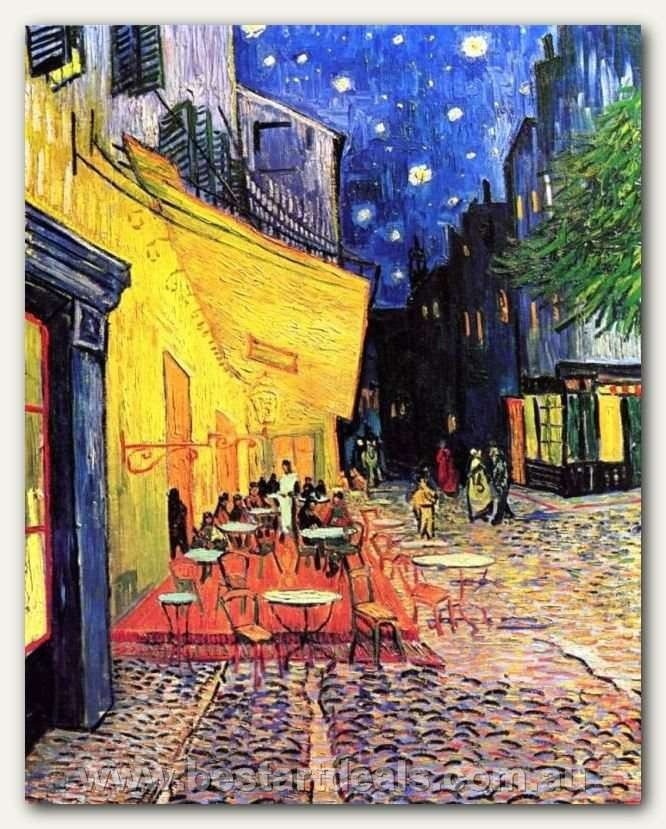 I often think that the night is more alive and more richly colored than the day_ Vincent Van Gogh    The Cafe Terrace on the Place du Forum Arles at Night