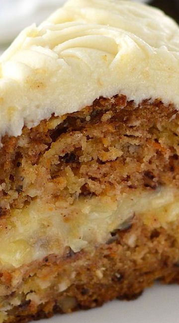 Carrot Cake with Creamy Pineapple Filling