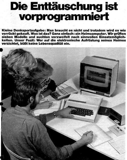 """""""Man braucht es nicht ..."""": Modern Technology, Stiftung Wahrentest, Ausgab 10 1984, 1984 States, Warentest 1984, Für Heimcomput, Ausgab 101984, Hats Jemand, Stiftung Warentest"""