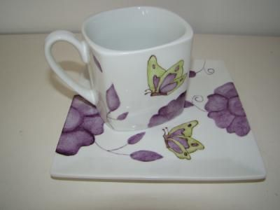 porcelana pintada a mano decoracion infantil porcelana,ceramica artesanalmente