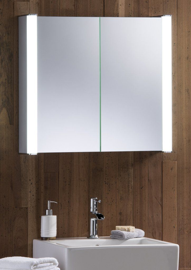 Led Cabinet With Shaver Sensor Demister 60x65cm From Neue Design Bathroom Mirror Cabinet Mirror Cabinets Led Mirror Bathroom