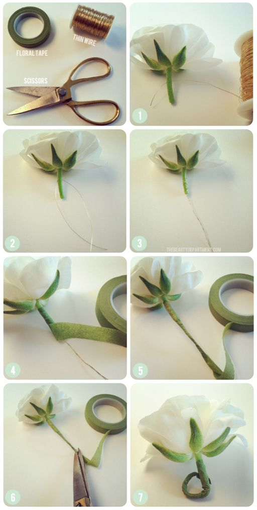 DIY FLOWER WRAPPING FOR HAIR