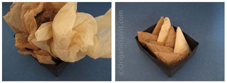 Folding plastic grocery bags for easy storage