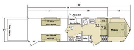 Sundowner Sportman Gooseneck Trailer Floorplan Gooseneck