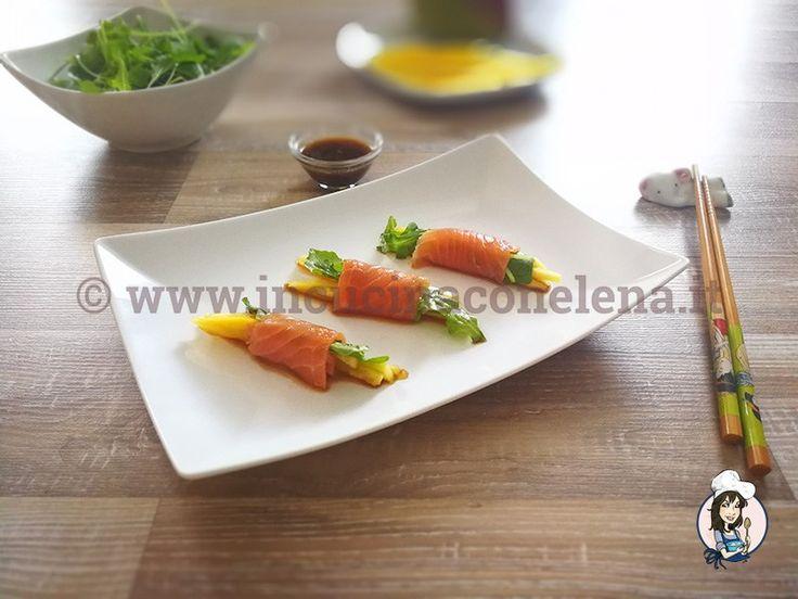 Ricetta Involtini di salmone e mango