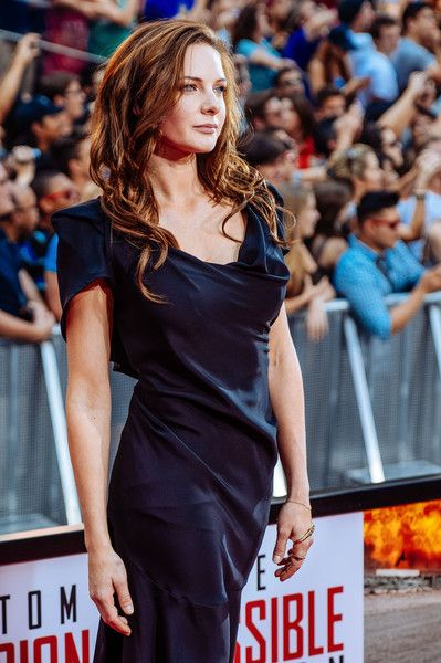 "Rebecca Ferguson attends the ""Mission Impossible - Rogue Nation"" New York Premiere at Duffy Square in Times Square on July 27, 2015 in New York City."