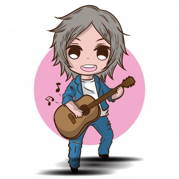 Cartoon Cute Boy Esta Tocando La Guitarr Premium Vector Freepik Vector Musica Estrella Hombre Cara Diseno De Personajes Tocar La Guitarra Caracteres