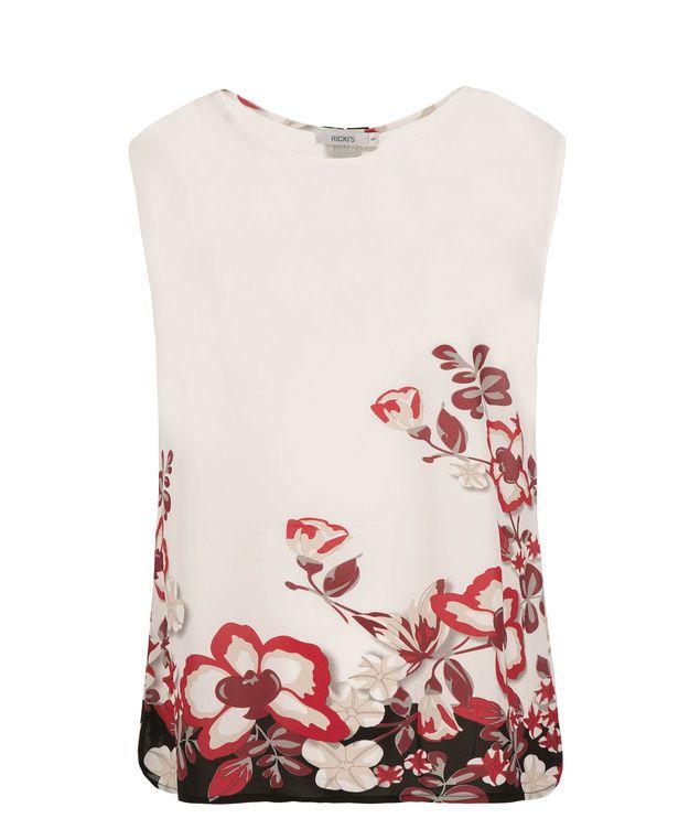 Crochet Trim Extended Shoulder Trim, Red Print #rickis #summer #summer2017 #summerfashion #rickisfashion #poppyfields #red #poppyred #colourofthemoment #loverickis