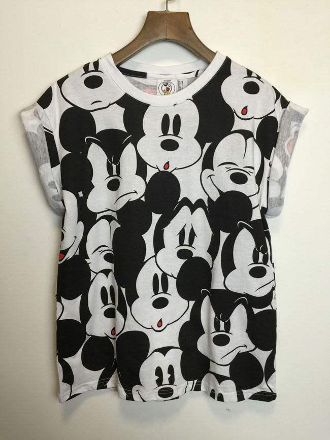 2015 New Cute Cartoon Mickey T Shirt Women's Short-sleeve Emoji Tshirt Woman Clothes O Neck Camisetas Mujer