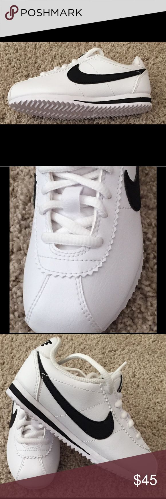 Nike Cortez kids size 12 White leather retro style Nike Cortez. A classic must-have for any stylish kid. So cute! Perfect for spring and summer.  Brand new never worn but they no longer have the tags or box.  No defects, flawless condition 10/10. Nike Shoes Sneakers