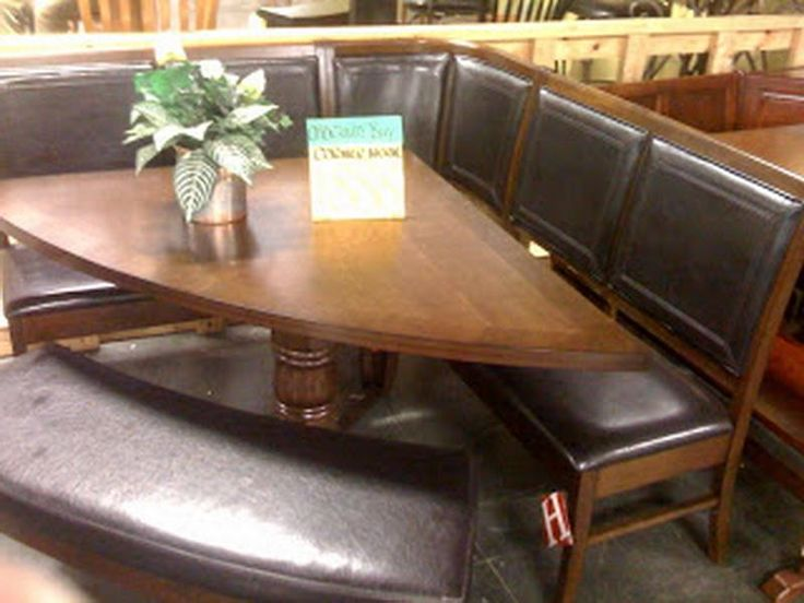 Unique Corner Kitchen Table Design Leather Seat And Bench