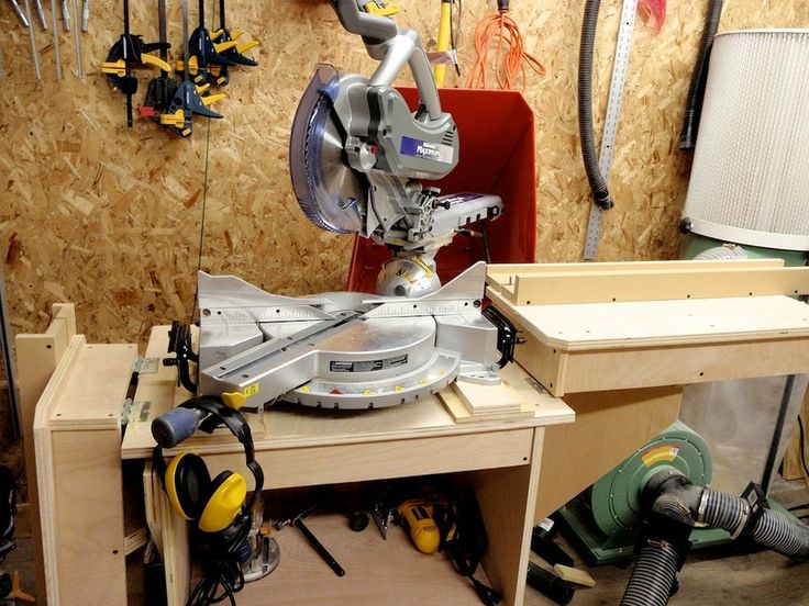 Mitre Saw Stand and Dust Collection - by Manitario @ LumberJocks.com ~ woodworking community