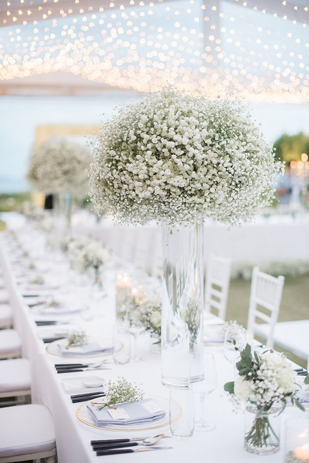 Elegant All Baby S Breath Wedding Flower Centerpieces Wedding