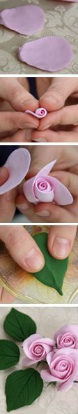 Gorgeous fondant rose tutorial