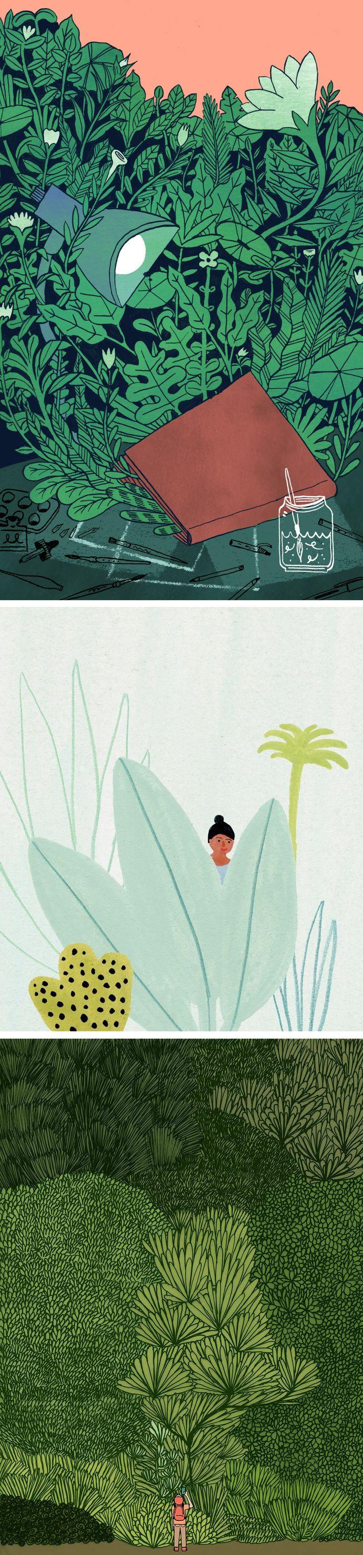 Green illustrations // nature-inspired art