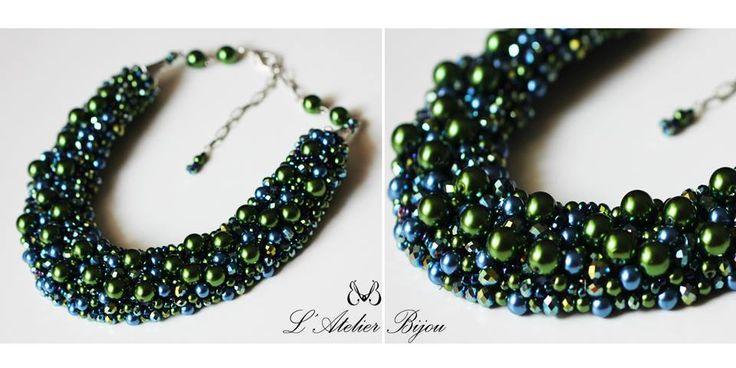 Dark colors statement jewelry #custom #design #fashion