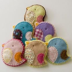 adorable little felt birds.