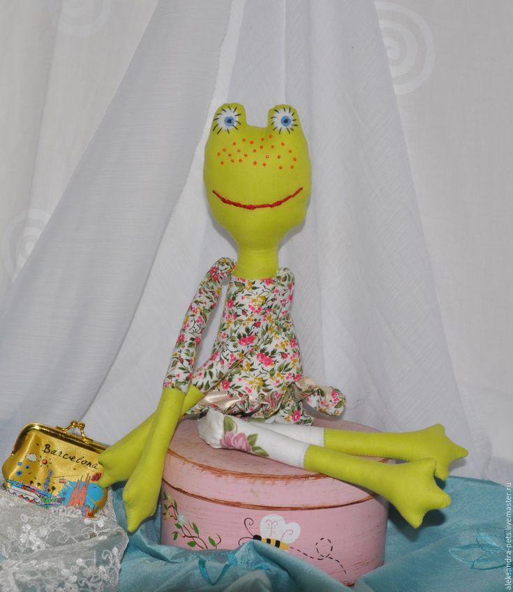Купить Игрушка-лягушка Романтичная особа - ярко-зелёный, мимими, кукла, игрушка, лягушка, балерина
