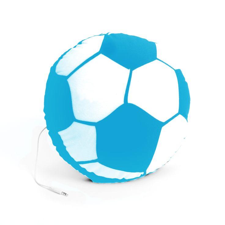 """Para escuchar los partidos del mundial Tienda Kitsch propone el  """"Almohadón con Parlante"""" - http://www.femeninas.com/escuchar-los-partidos-del-mundial/"""