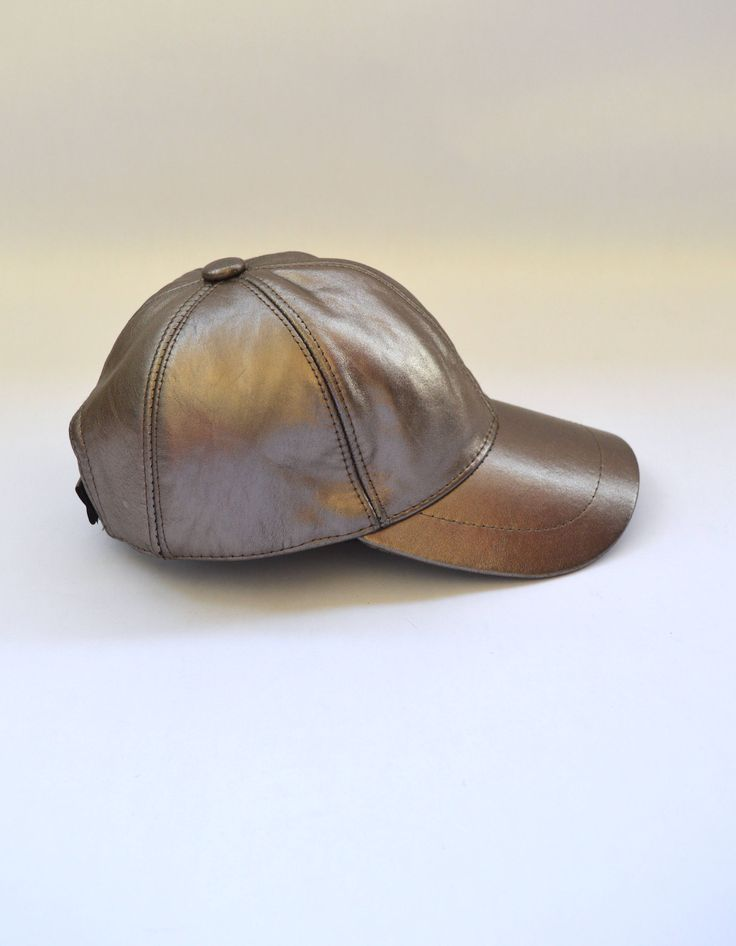 Genuine leather cap, leather hat, bronze leather jockey, baseball hat, real leather pelt, gift for him or her. Genuine sun hat, bronze hat . by BeFur on Etsy