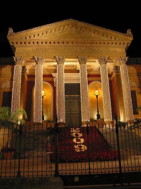 "Sicily Italy Palermo ""Teatro Massimo"""