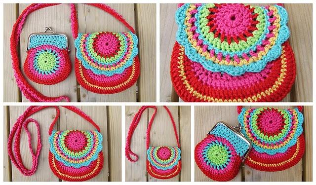 crochet bags, so cute! crochet, knitting & patterns Pinterest