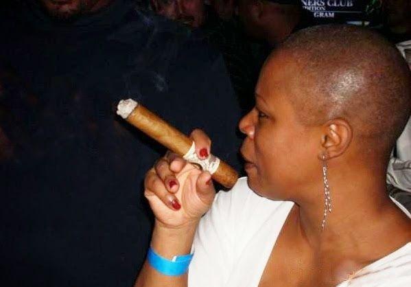 Bald Women And Cigar | CIGAR&FASHION EVERY TIME